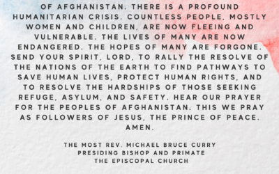 Prayer and Action for the People of Afghanistan, Allies, and Afghan Refugees