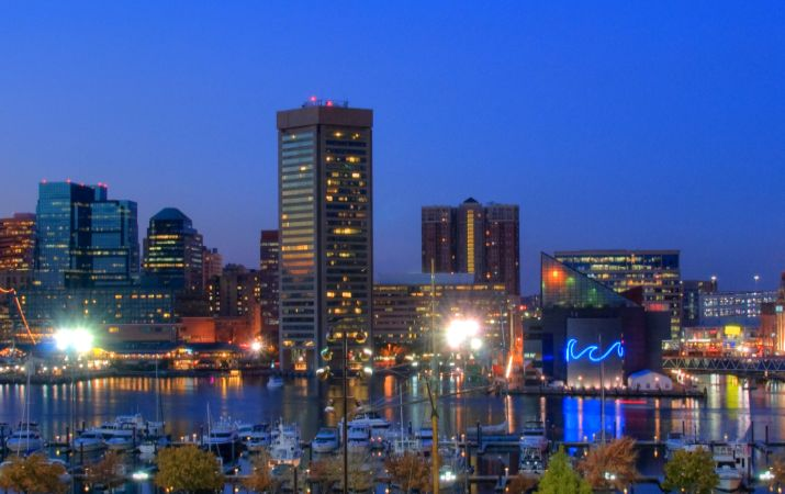Panoramic view of Baltimore Cityscape