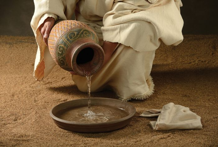 Lenten prayer that looks ahead to the washing of the disciples' feet at the Last Supper